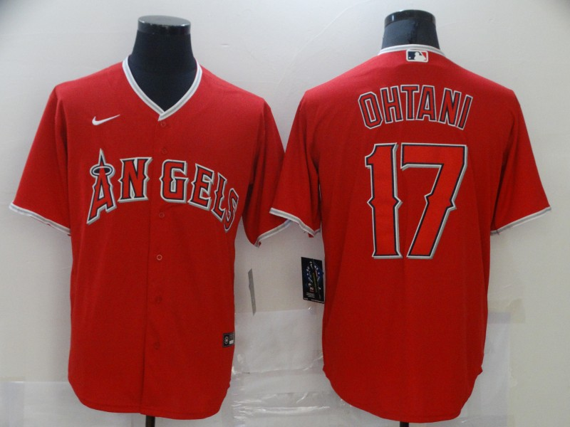 Angels 17 Shohei Ohtani Red 2020 Nike Cool Base Jersey