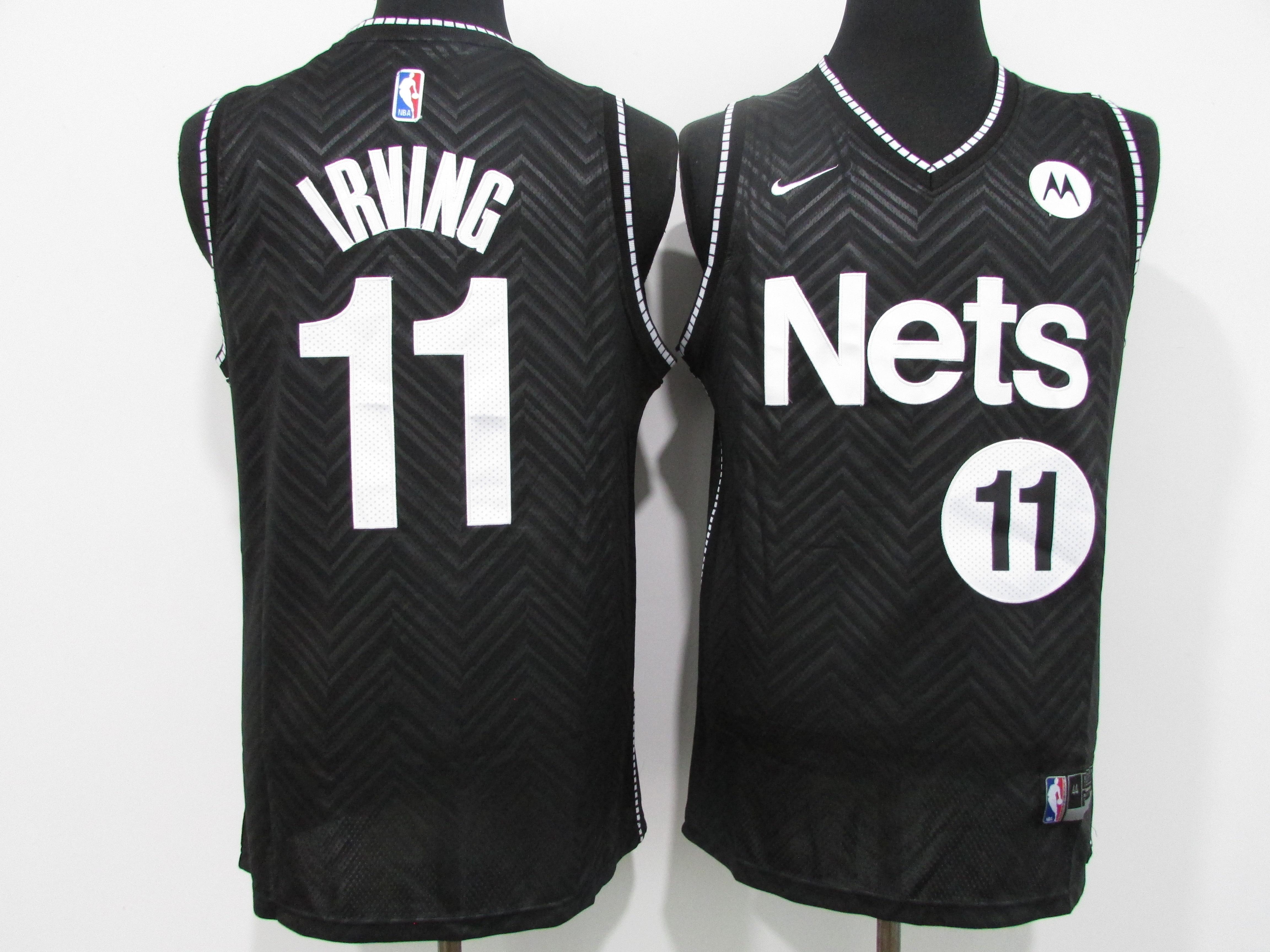 Nets 11 Kyrie Irving Black 2021 Earned Edition Swingman Jersey