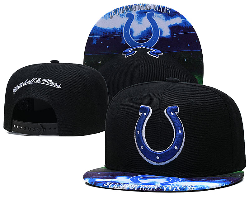 Colts Team Logo Black Mitchell & Ness Adjustable Hat LH