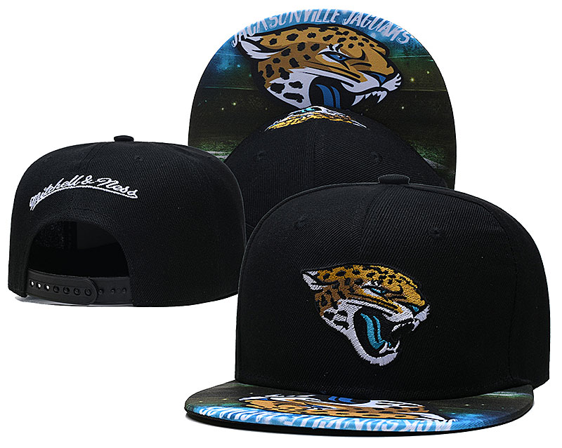 Jaguars Team Logo Black Mitchell & Ness Adjustable Hat LH