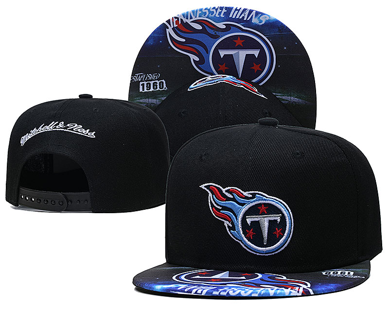 Titans Team Logo Black Mitchell & Ness Adjustable Hat LH