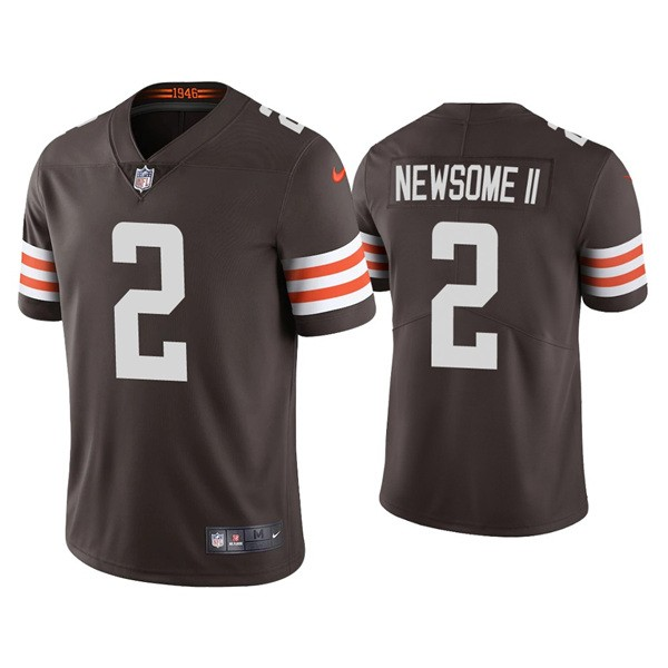 Nike Browns 2 Greg Newsome II Brown 2021 Draft Vapor Limited Jersey