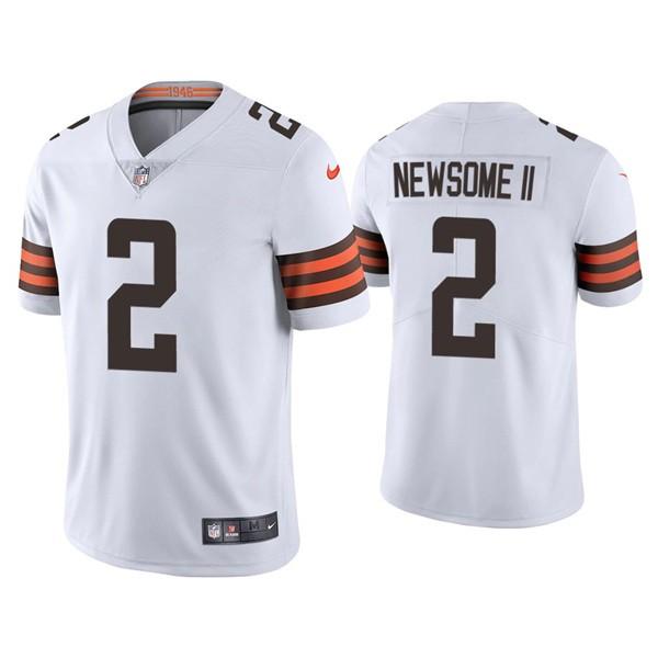 Nike Browns 2 Greg Newsome II White 2021 Draft Vapor Limited Jersey