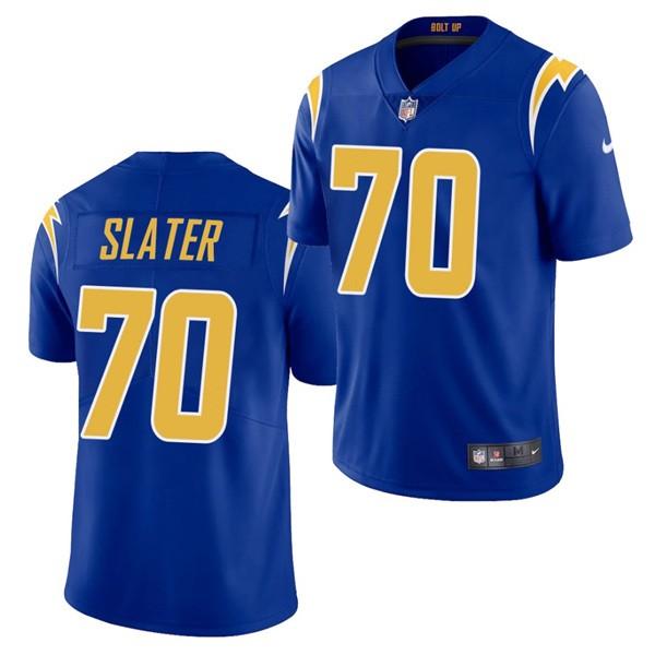 Nike Chargers 70 Rashawn Slater Royal 2021 Draft Vapor Limited Jersey