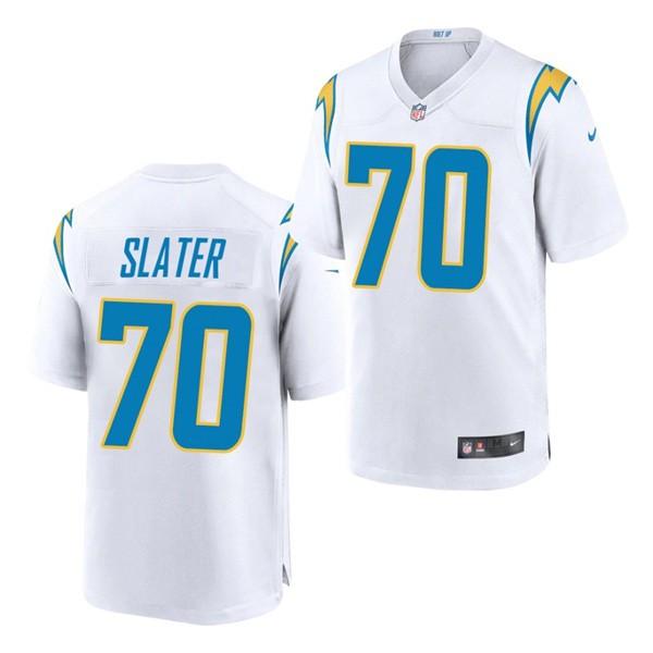 Nike Chargers 70 Rashawn Slater White 2021 Draft Vapor Limited Jersey