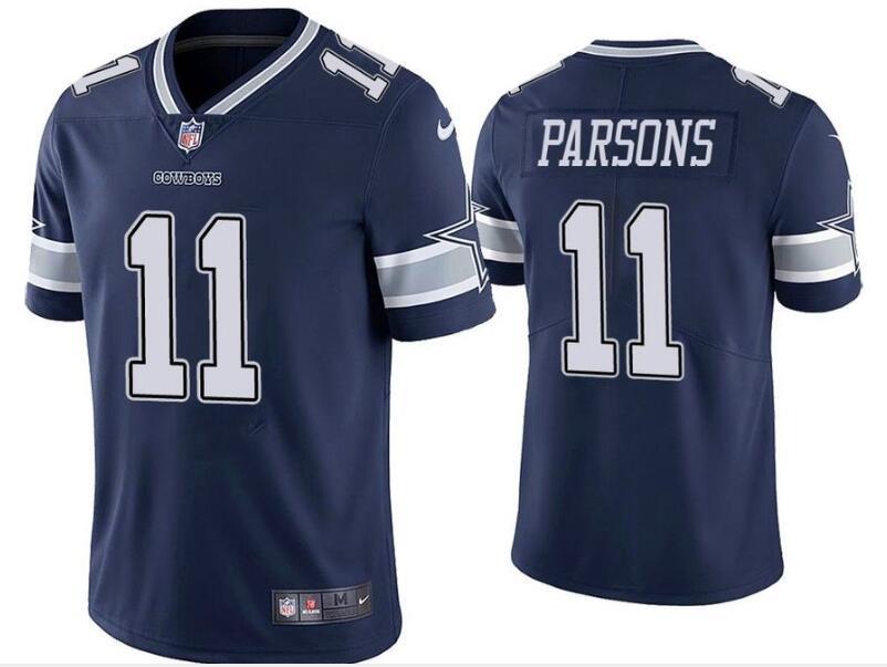 Nike Cowboys 11 Micah Parsons Navy 2021 Draft Vapor Limited Jersey