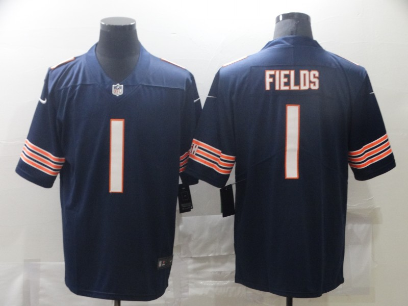 Nike Bears 1 Justin Fields Black 2021 NFL Draft Vapor Untouchable Limited Jersey