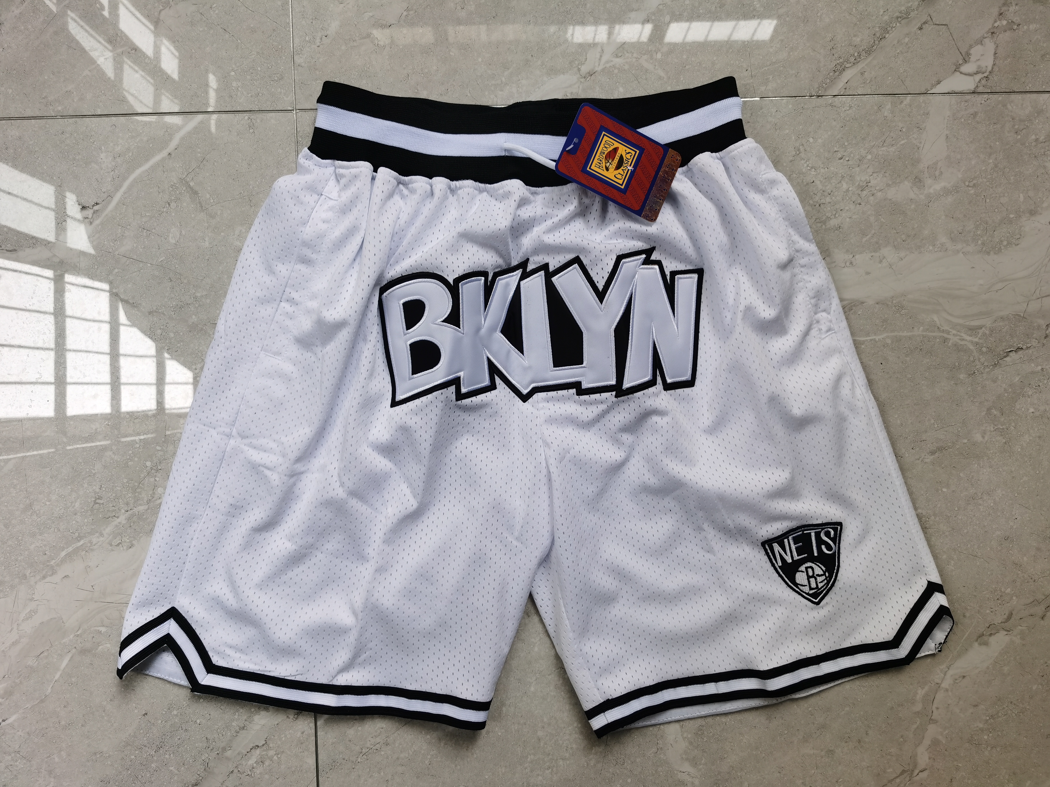 Nets Teams White Just Don With Pocket Swingman Shorts