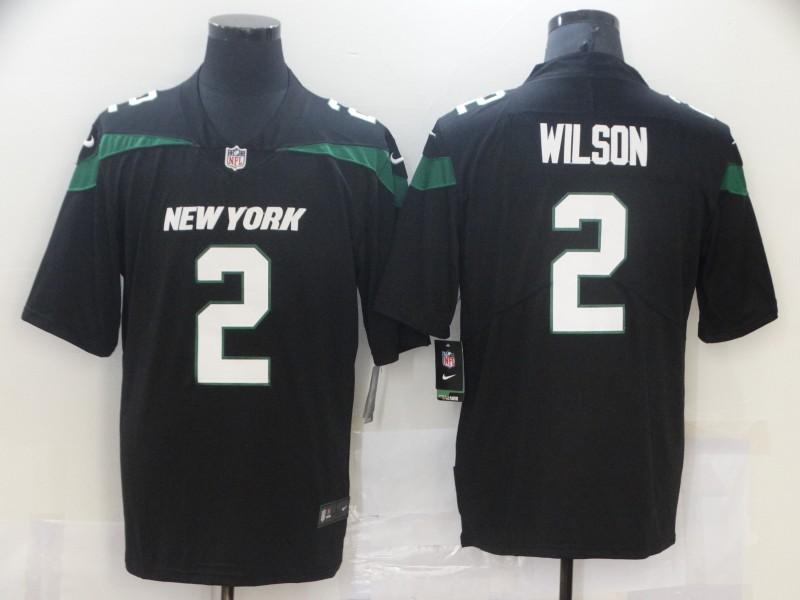 Nike Jets 2 Zach Wilson Black 2021 NFL Draft Vapor Untouchable Limited Jersey