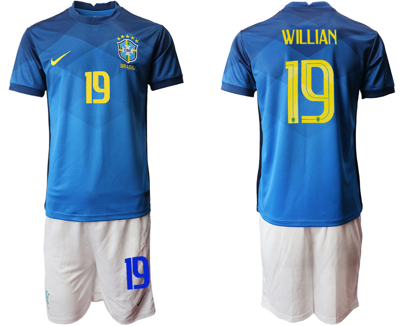 2020-21 Brazil 19 WILLIAN Away Soccer Jersey