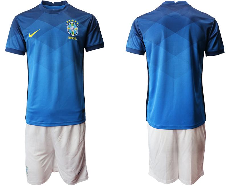 2020-21 Brazil Away Soccer Jersey