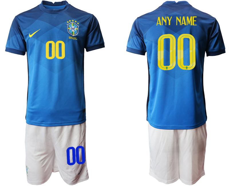 2020-21 Brazil Customized Away Soccer Jersey