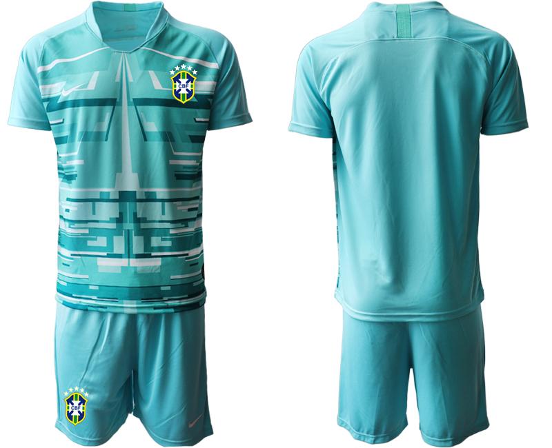 2020-21 Brazil Lake Blue Goalkeeper Soccer Jersey