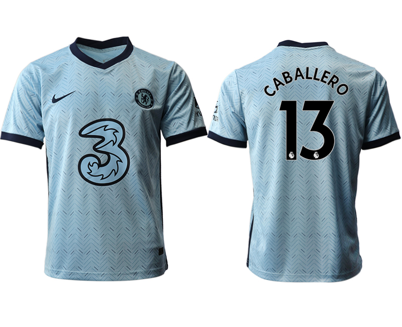 2020-21 Chelsea 13 CABALLERO Away Thailand Soccer Jersey