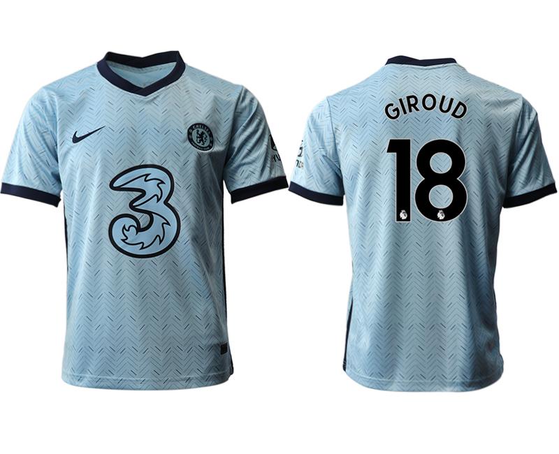 2020-21 Chelsea 18 GIROUD Away Thailand Soccer Jersey