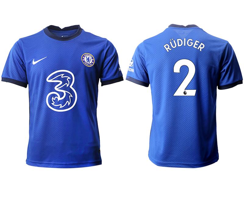 2020-21 Chelsea 2 RUDIGER Home Thailand Soccer Jersey
