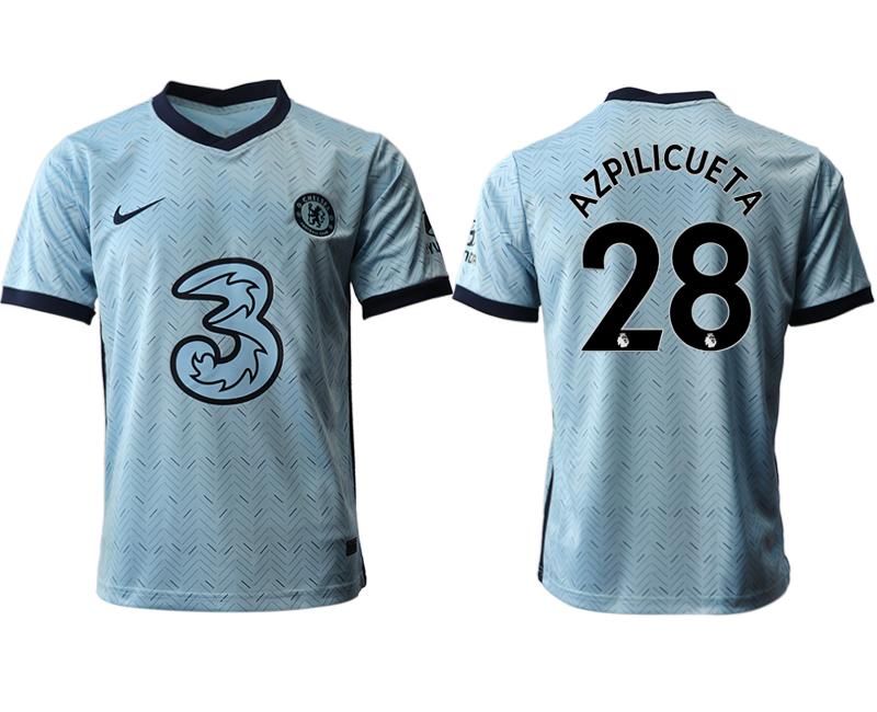 2020-21 Chelsea 28 AZPILICUETA Away Thailand Soccer Jersey