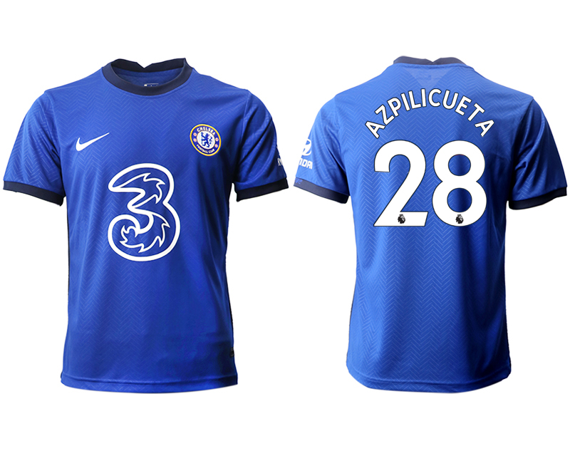 2020-21 Chelsea 28 AZPILICUETA Home Thailand Soccer Jersey