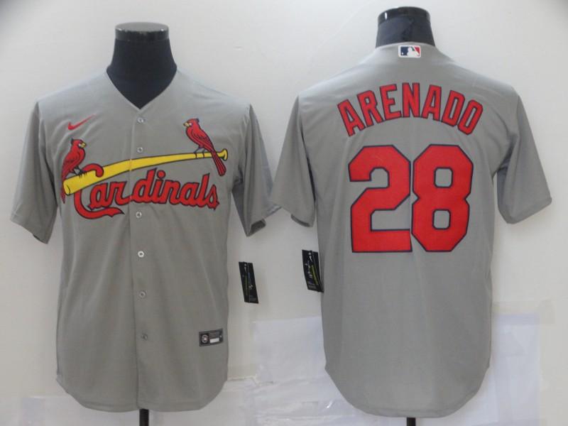 Cardinals 28 Nolan Arenado Gray Nike Cool Base Jersey
