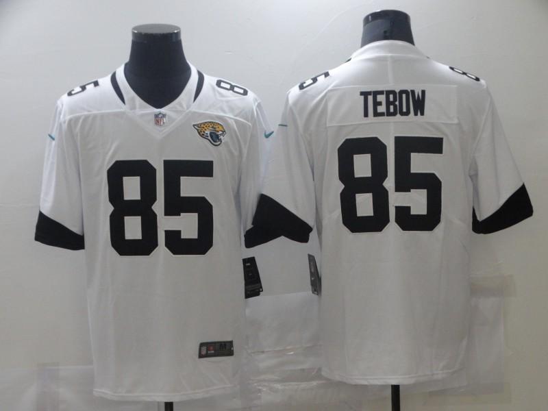Nike Jaguars 85 Tim Tebow White 2021 NFL Draft Vapor Untouchable Limited Jersey