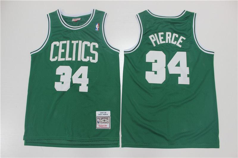 Celtics 34 Paul Pierce Green 2007-08 Hardwood Classics Swingman Jersey