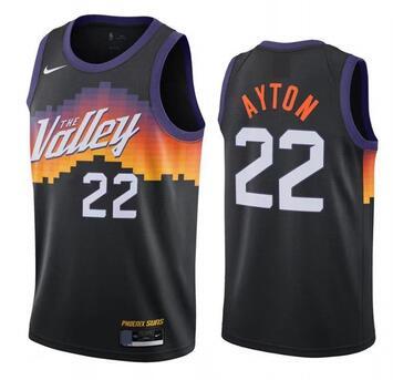 Suns 22 Deandre Ayton Black 2021 City Edition Swingman Jersey