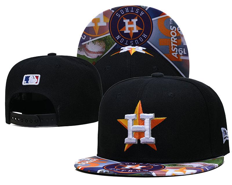 Astros Team Logos Black Adjustable Hat LH