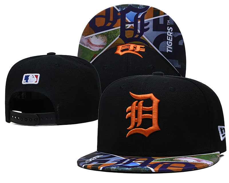 Tigers Team Logos Black Adjustable Hat LH