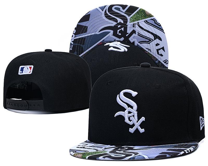 White Sox Team Logos Black Adjustable Hat LH