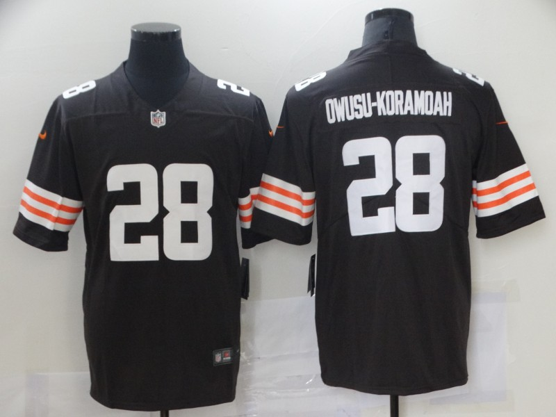 Nike Browns 28 Jeremiah Owusu Koramoah Brown 2021 NFL Draft Vapor Untouchable Limited Jersey