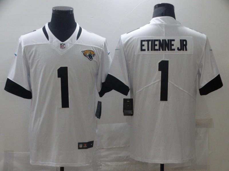 Nike Jaguars 1 Travis Etienne Jr White 2021 NFL Draft Vapor Untouchable Limited Jersey