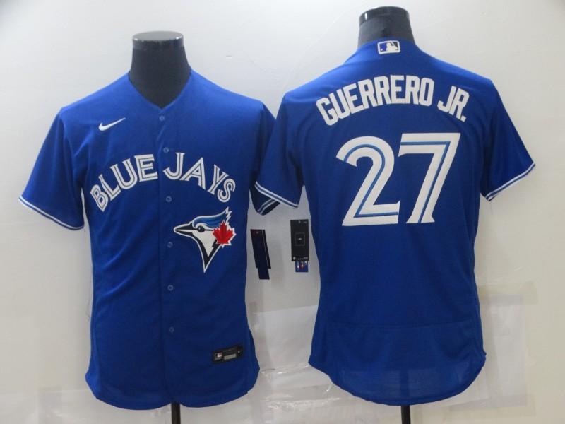 Blue Jays 27 Vladimir Guerrero Jr. Royal 2020 Nike Flexbase Jersey
