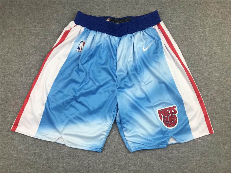 Nets Teams Blue Nike Shorts