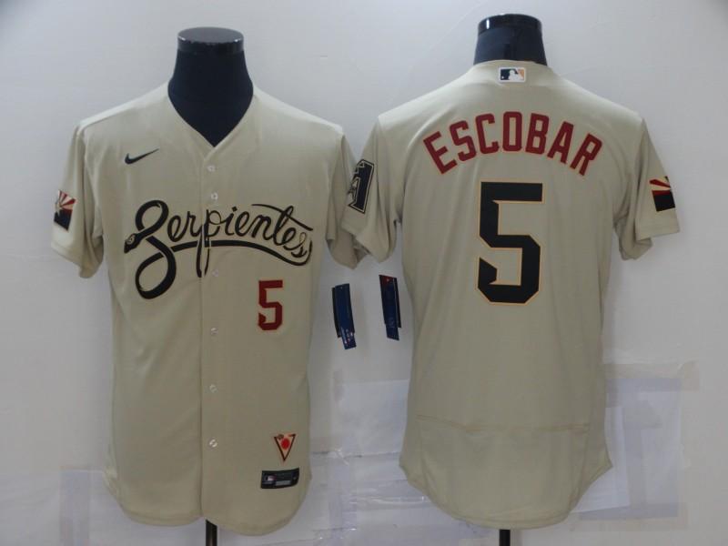 Diamondbacks 5 Eduardo Escobar Gold Nike 2021 City Connect Flexbase Jersey