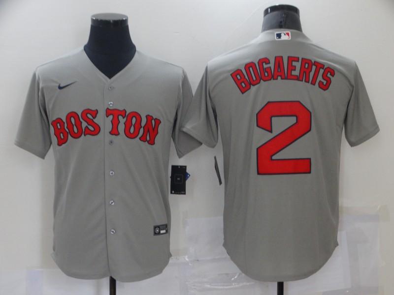Red Sox 2 Xander Bogaerts Gray Nike Cool Base Jersey