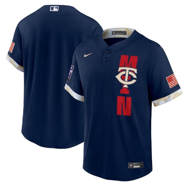 Twins Blank Navy Nike 2021 MLB All-Star Flexbase Jersey