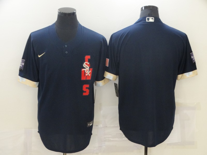 White Sox Blank Navy Nike 2021 MLB All-Star Cool Base Jersey