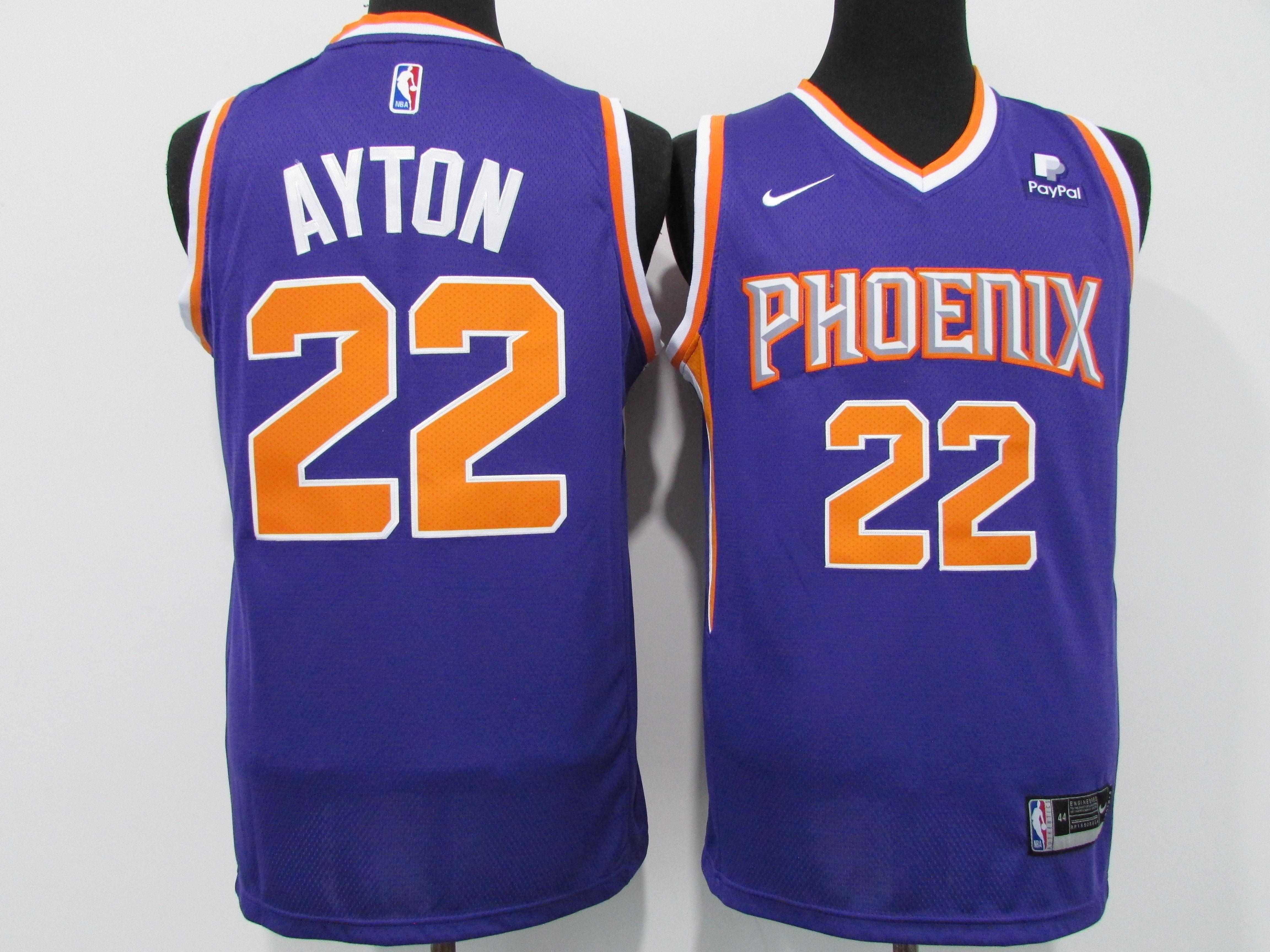 Suns 22 Deandre Ayton Purple Nike 2021 City Edition Swingman Jersey