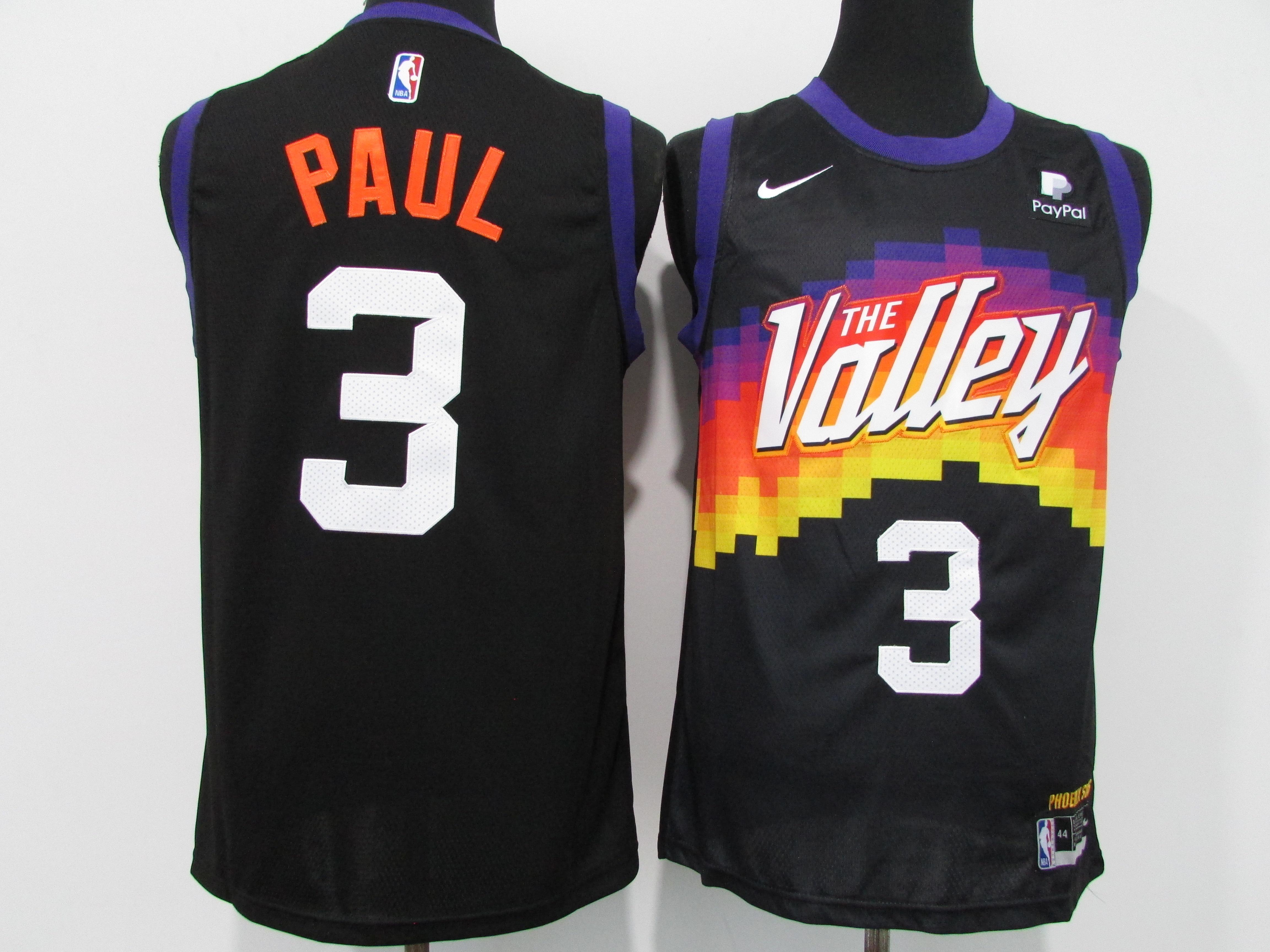 Suns 3 Chris Paul Black Nike 2020-21 City Edition Swingman Jersey