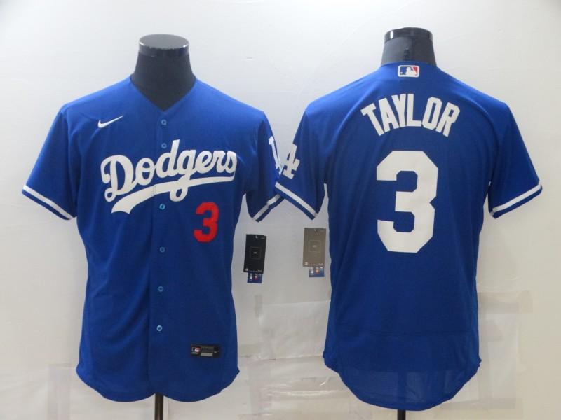 Dodgers 3 Chris Taylor Royal Nike Flexbase Jersey