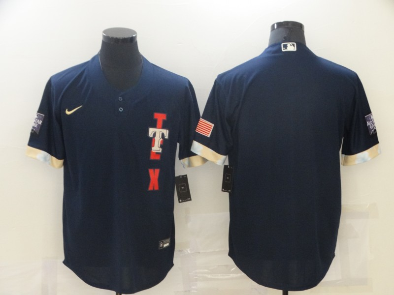 Rangers Blank Navy Nike 2021 MLB All-Star Cool Base Jersey