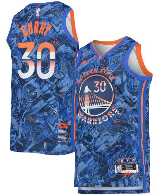 Warriors 30 Stephen Curry Blue Nike Select Series MVP Swingman Jersey