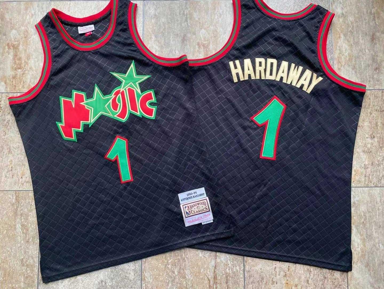 Magic 1 Penny Hardaway Black 1993-94 Hardwood Classics Jersey