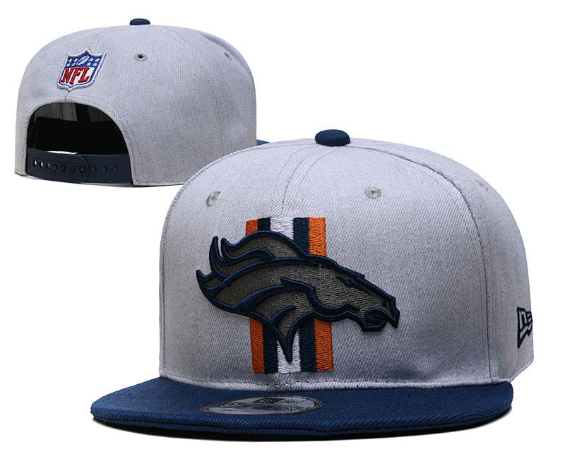 Broncos Team Logo Gray Adjustable Hat YD