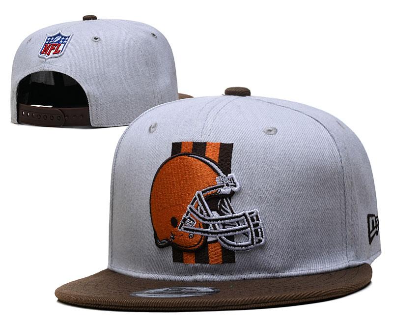 Browns Team Logo Gray Adjustable Hat YD