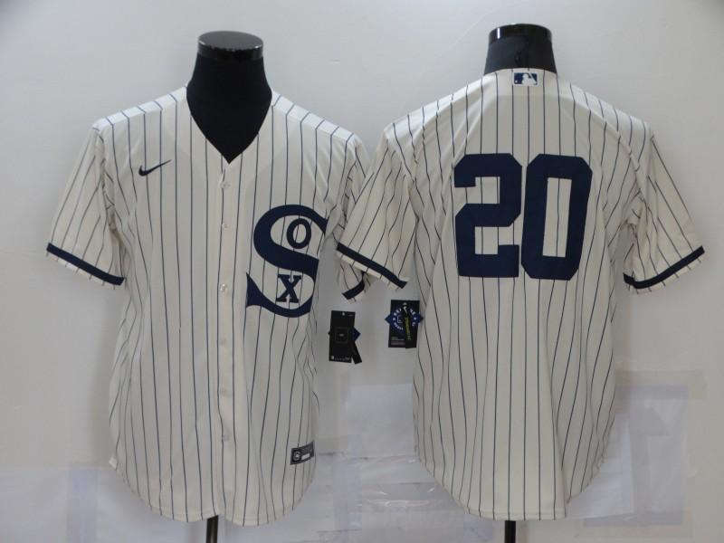 White Sox 20 Danny Mendick Cream Nike 2021 Field Of Dreams Cool Base Jersey