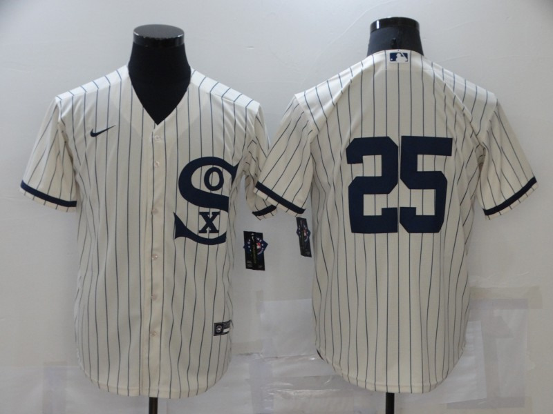 White Sox 25 Andrew Vaughn Cream Nike 2021 Field Of Dreams Cool Base Jersey