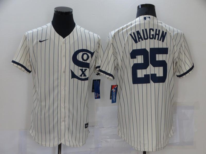 White Sox 25 Andrew Vaughn Cream Nike 2021 Field Of Dreams Flexbase Jersey