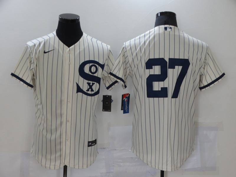 White Sox 27 Lucas Giolito Cream Nike 2021 Field Of Dreams Flexbase Jersey