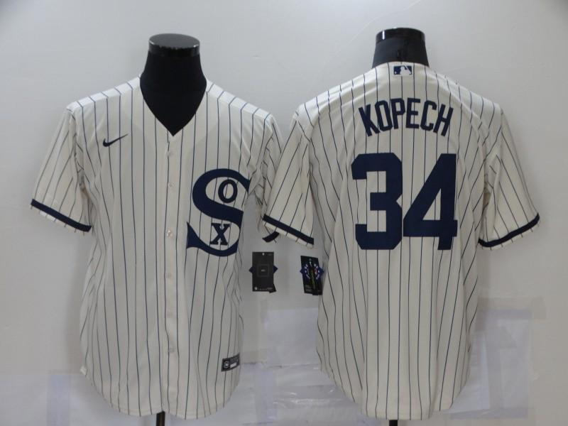 White Sox 34 Michael Kopech Cream Nike 2021 Field Of Dreams Cool Base Jersey